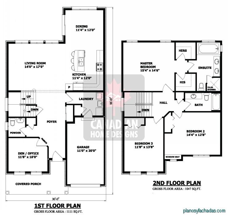15 planos de casas peque as de dos pisos planos y for Planos de cocinas pequenas y sencillas