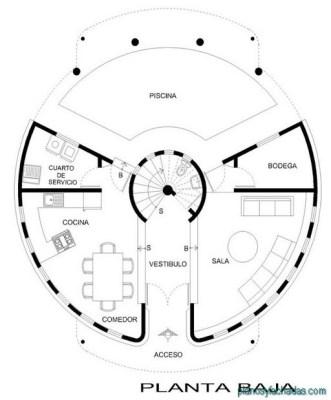 planos casas circulares 1