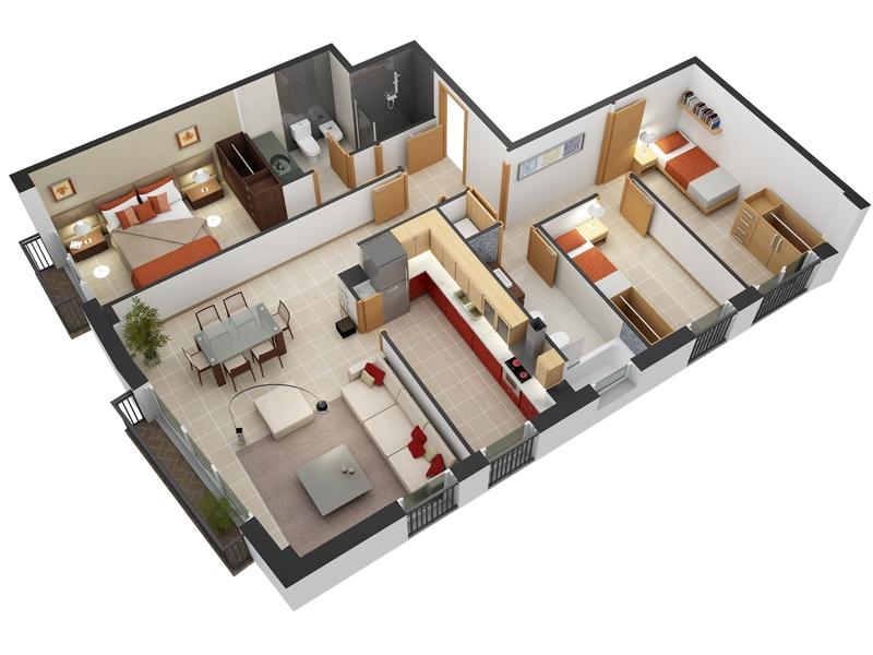 19 Planos de casas 3 dormitorios - Planos y Fachadas - Todo para ...