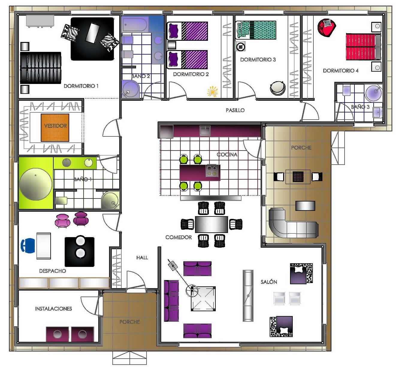 19 planos de casas 3 dormitorios planos y fachadas for Planos y fachadas de casas