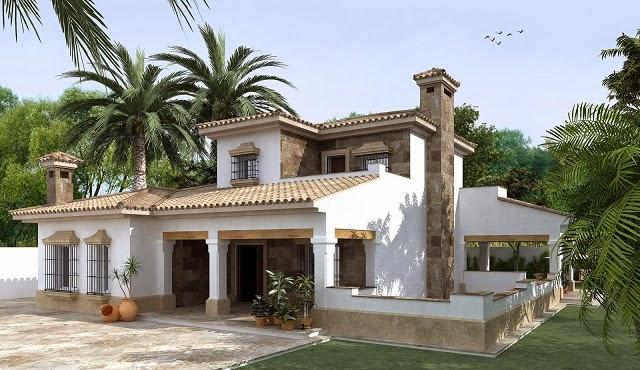 10 fachadas de bellas casas coloniales planos y fachadas for Diseno de entradas principales de casas