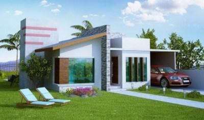 fachadas de casas modernas de un piso1