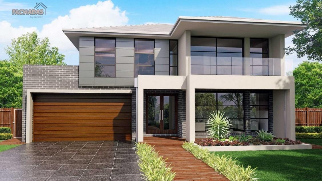 Fachadas de casas modernas de un piso planos y fachadas Pisos modernos para casas minimalistas