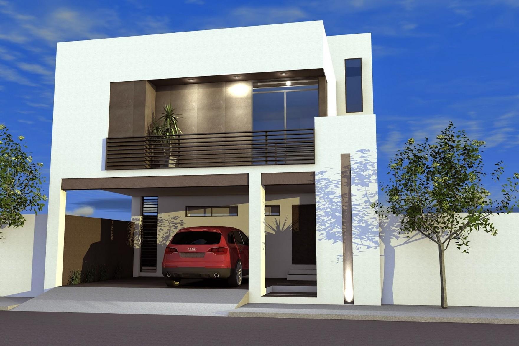 Im genes y fotograf as de fachadas con cantera planos y for Fotos casas modernas dos plantas