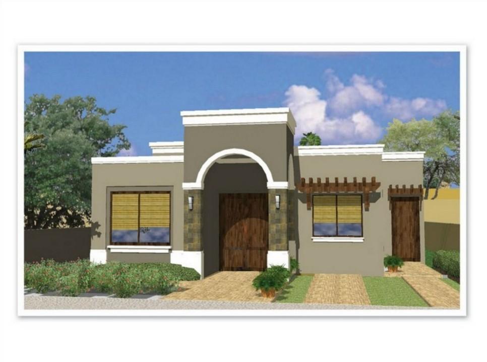 35 fachadas de casas de una planta modernas y vistosas - Planos de casas modernas de una planta ...