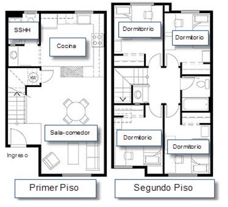 Planos de casas modernas de 3 dormitorios planos y for Planos de casas modernas de 2 pisos gratis