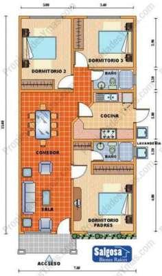 planos-de-casas-de-un-piso-3-dormitorios