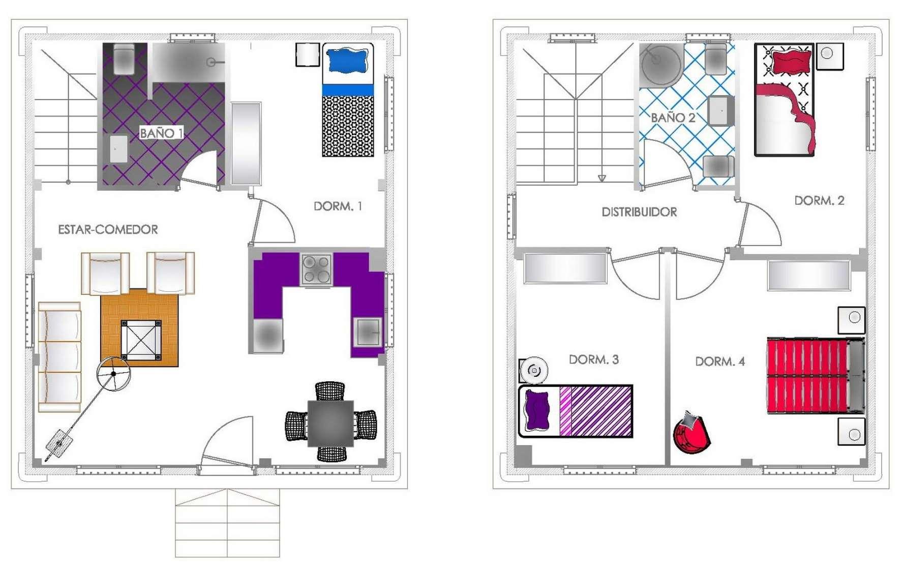 Planos de casas modernas de dos plantas planos y - Disenos de casas de dos plantas ...