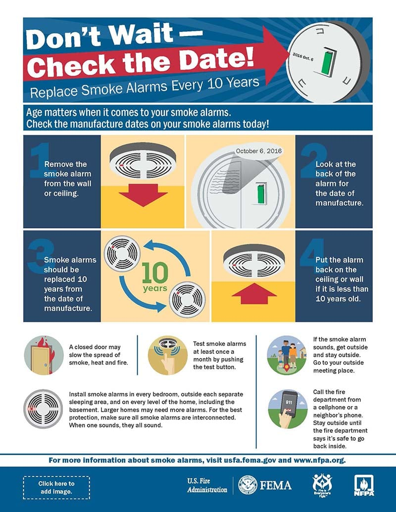 Smoke Alarm Replacement Should Be Done Every 10 Years Wiring A House For Alarms