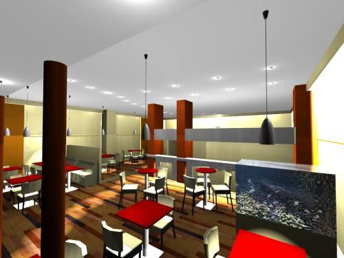 Esquisse restaurant par architecte