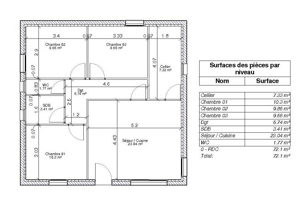 Superb La Surface Habitable Et La Hauteur Sous Plafond