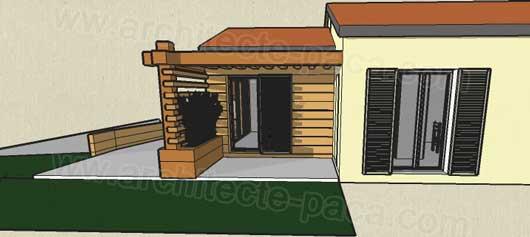 Extension maison bois en paca marseille for Agrandissement maison individuelle