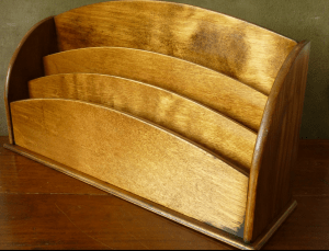 Woodworking letter rack