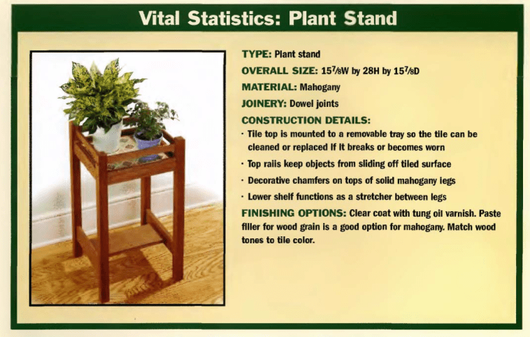 Projects Plant stand 1
