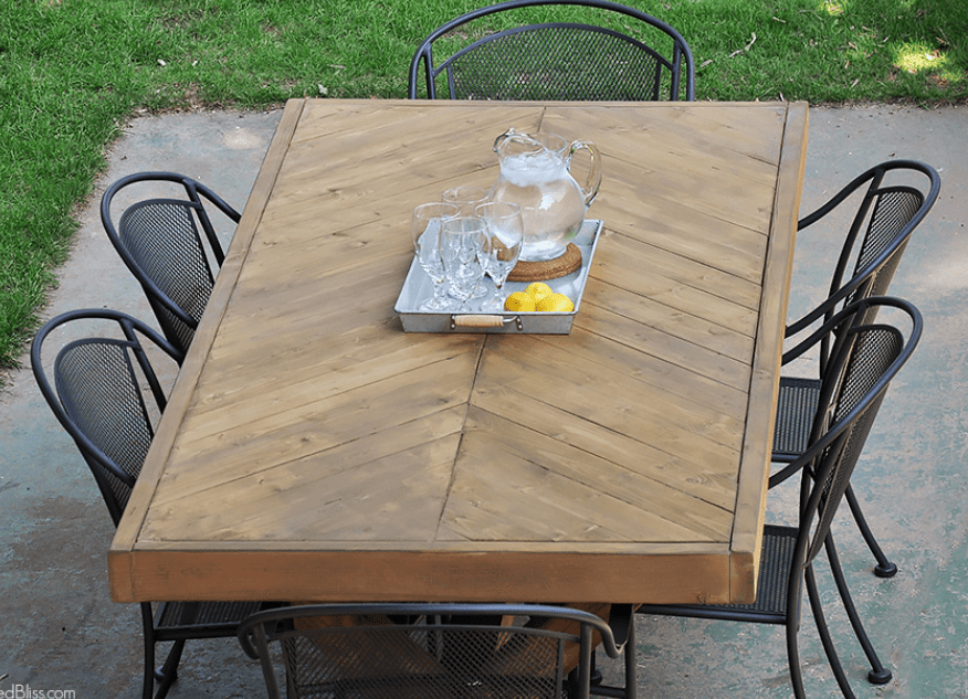 Outdoor Herringbone Table