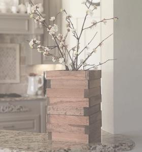 <img source = 'pic.gif' alt='Wooden rustic vas '/>