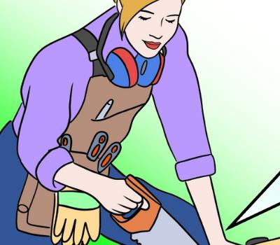 Copy of Copy of Girl Sawing medium