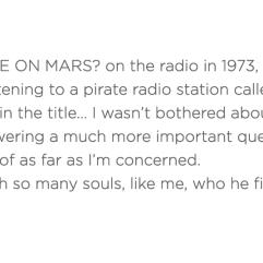 David Bowie - Life on Mars ?