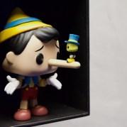 Personnage mythique oblige, Pinocchio a aussi connu son moment de gloire en tant que figurine Funko Pop. David Trotta © PLANS CULTES