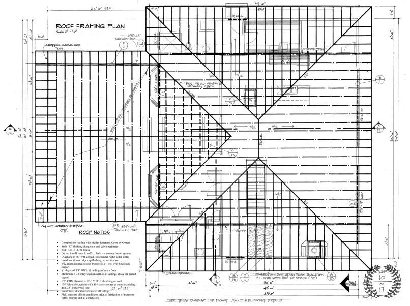 Standard Roof Framing Plan Example Framejdi Org