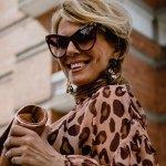 confident woman in sun glasses