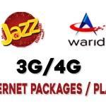 Jazz prepaid internet packages