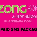 zong prepaid SMS packages
