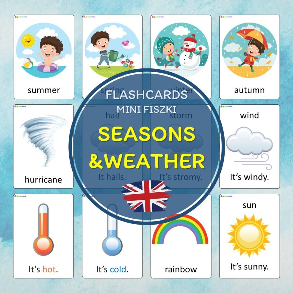 seasons weather pory roku i pogoda pomoce dydaktyczne dla dzieci pdf język angielski słówka vocabulary