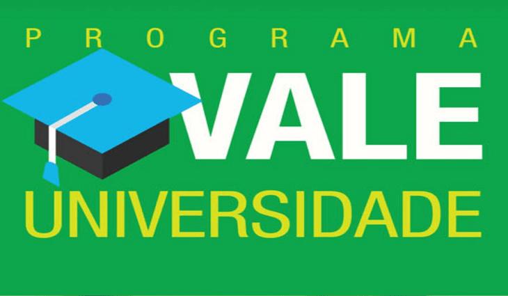 Começa no próximo dia 17 de março inscrições para o Vale Universidade 2021
