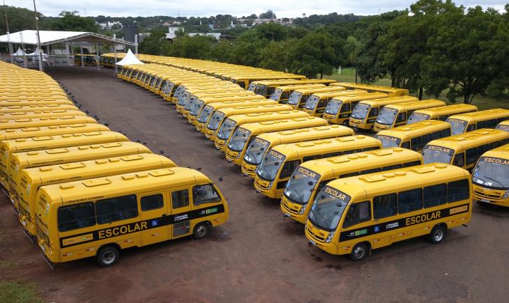 Transporte escolar de Maracaju vai receber mais 4 ônibus novos