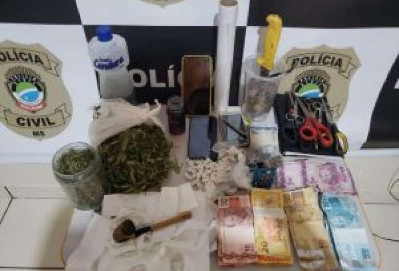 Casal é preso em flagrante por suspeita de tráfico de drogas