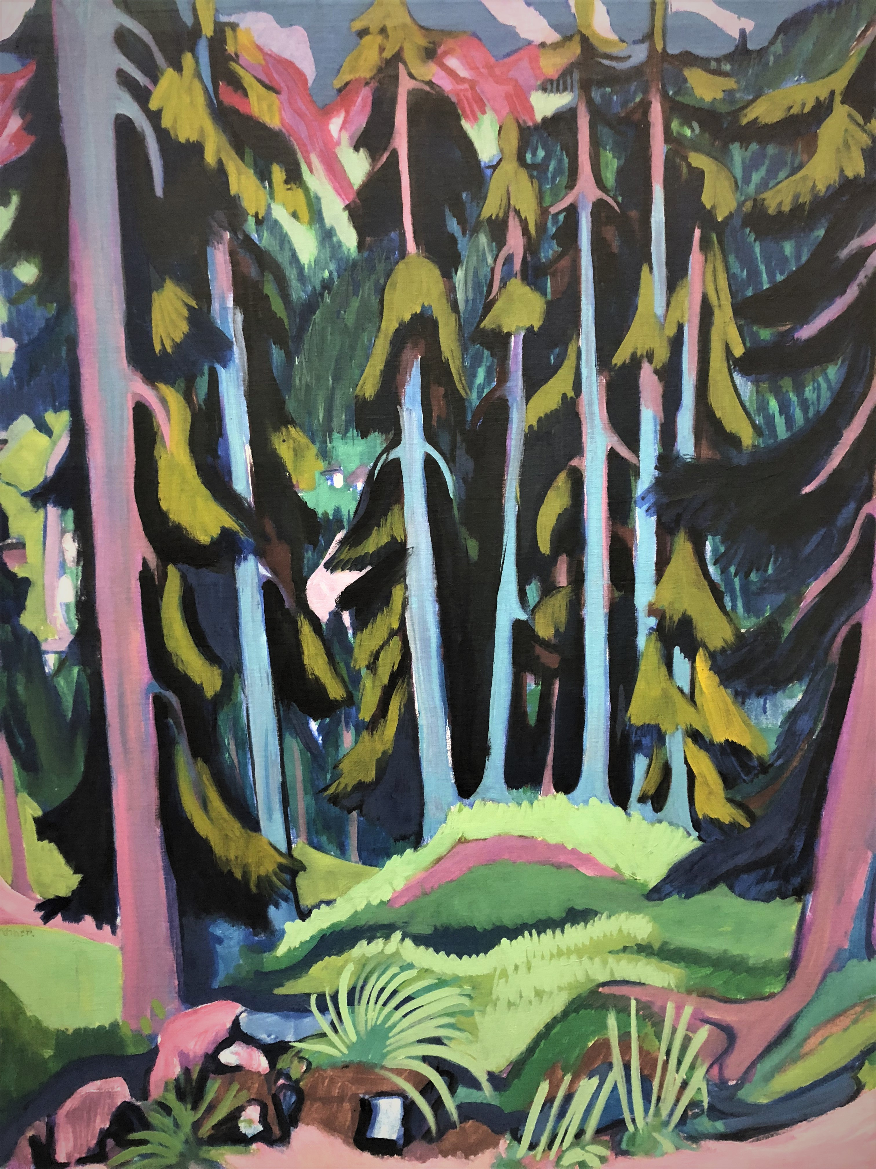 Ernst Ludwig Kirchner – autumn forest painting class in Kunsthaus