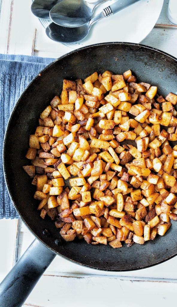 One-pan breakfast homefries potatoes