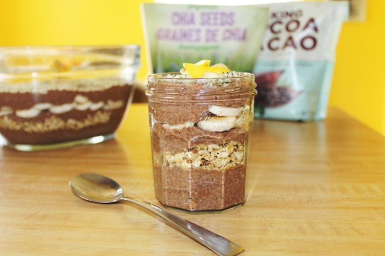 vegan chocolate peanut butter chia parfait
