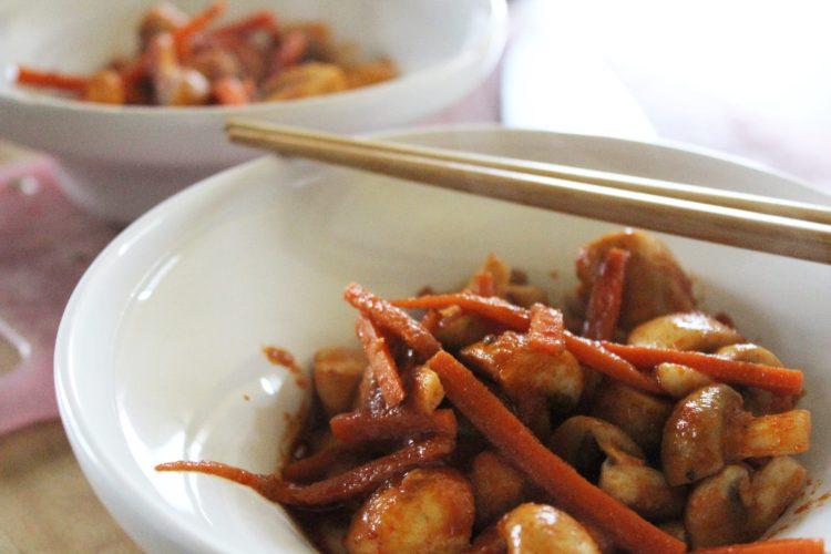 Thai red curry mashrooms