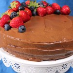 Vegan Sugar & Gluten Free Chocolate Birthday Cake