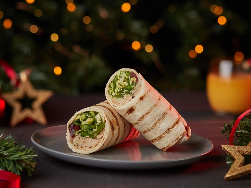 Tesco vegan Christmas turkey wrap