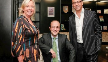 Deborah Meaden with Theo Paphitis and Patrick van der Vorst