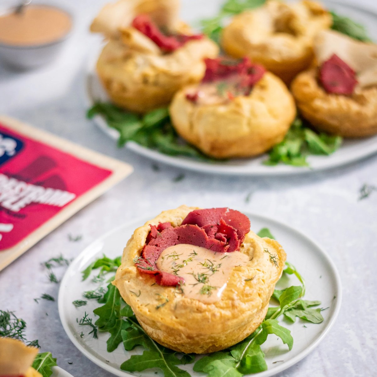Squeaky Bean Stuffed Mini Yorkshire Puddings