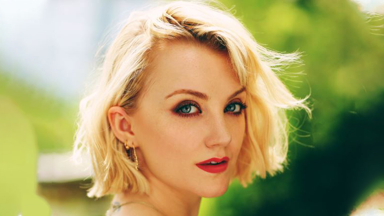 Co-host of the vegan podcast The ChickPeeps- Evanna Lynch