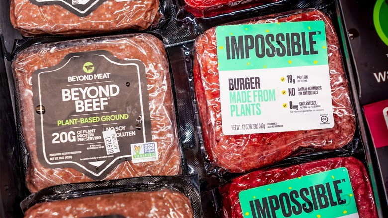 plant-based meats from Impossible and Beyond