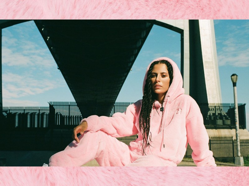 Juicy Couture's pink vegan tracksuit