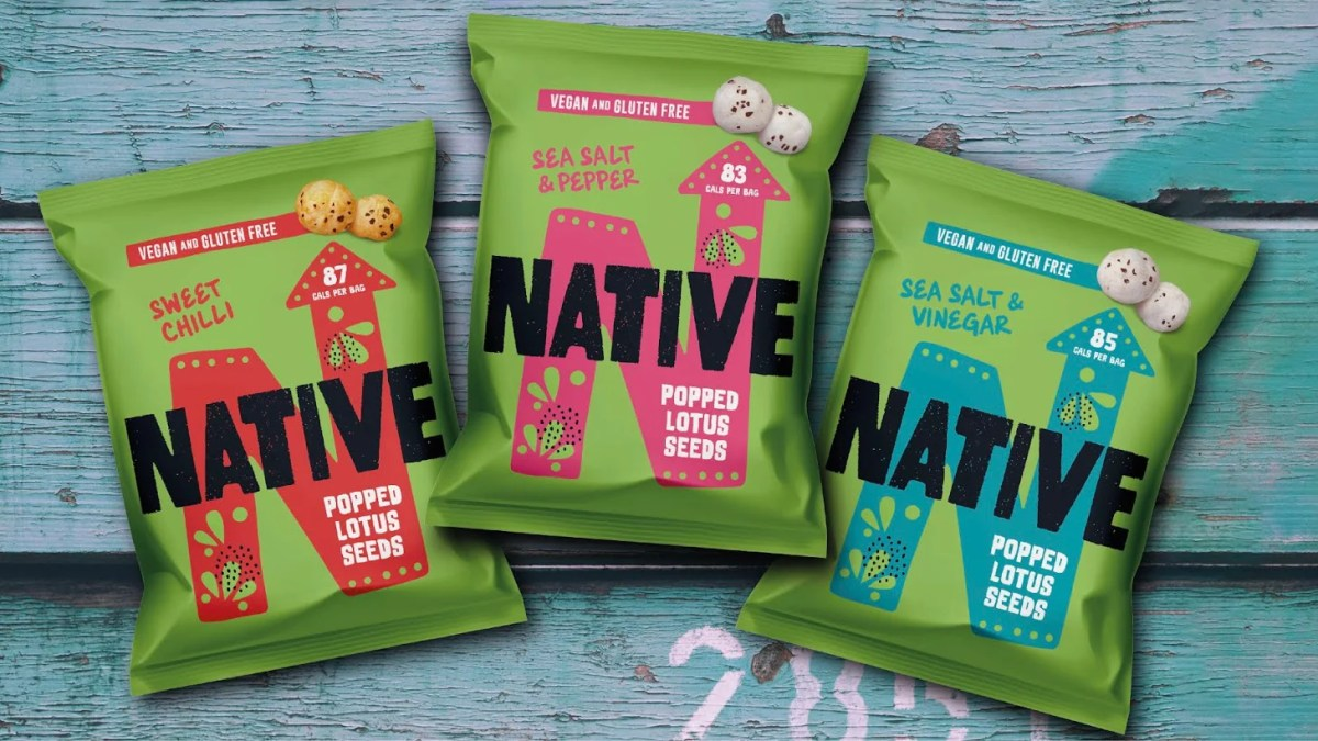 Native Snacks has secured listings in Sainsbury's, Holland & Barrett, and Ocado for its Super Street Snacks range of Popped Lotus Seeds.