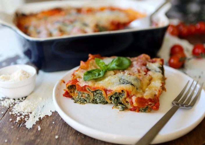 """Spinach and """"Ricotta"""" Cannelloni"""