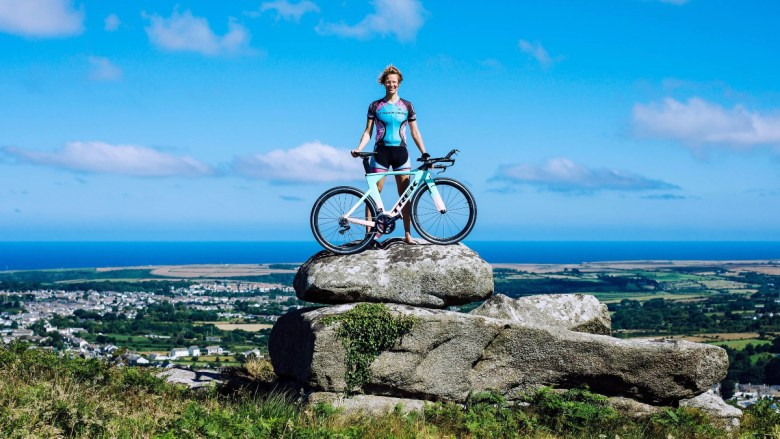 Vegan athlete Kate Strong attempts a gruelling triple world record challenge