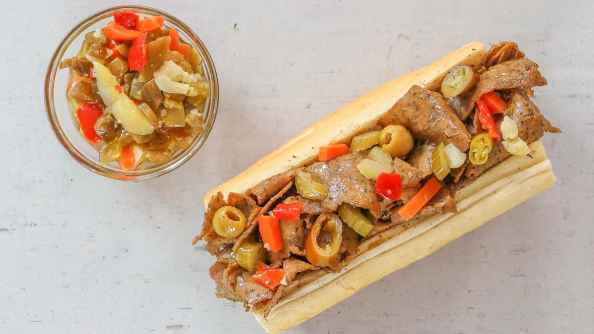 Buona, a restaurant specializing in beef, has unveiled a plant-based vegan beefless sandwich