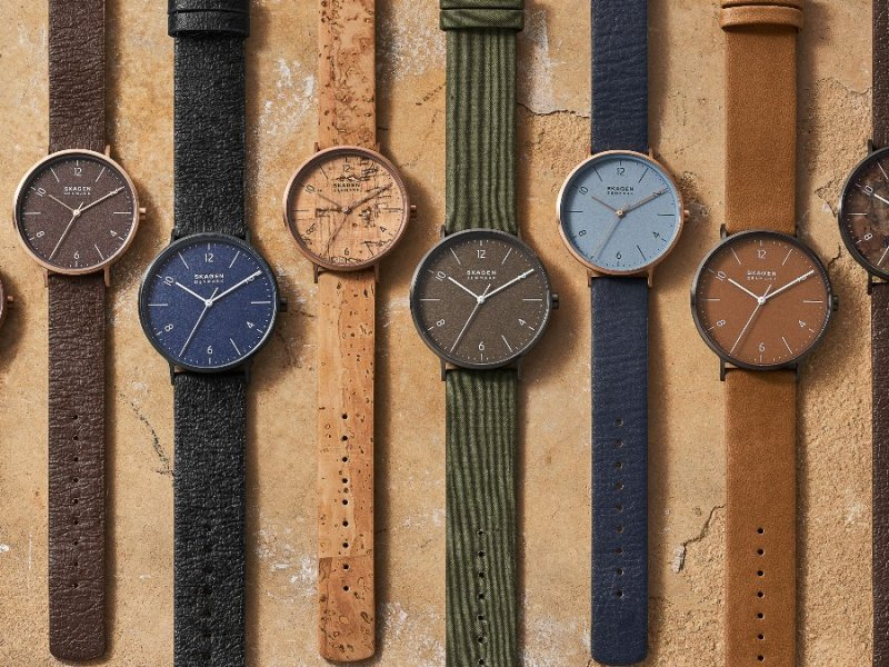 Sustainable watch brand Skagen has launched a collection made from vegan apple leather