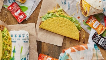 Taco Bell is testing a new chalupa shell made from vegan chicken in its test kitchen in California