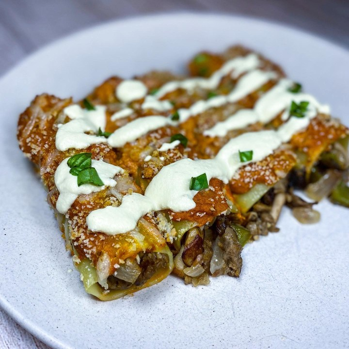 VEGAN STUFFED CANNELLONI
