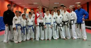 Me with one of the Thames Valley TKD classes when I got back.